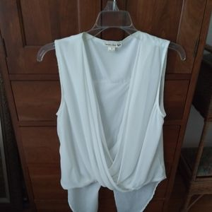 Flowy white sleeveless top